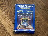 Video Pinball (Atari 2600, 1981) CIB (Box, Manual, & Game) - Tested and Working