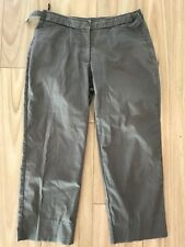 SPORTSCRAFT Size 11 Womens Brown Cropped Stright Leg 3/4 Pants Adjustable Waist