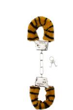 manette Shots Toys Furry Handcuff - Tigre