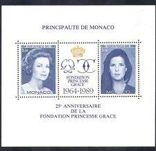 Mónaco 1989 Princesa Grace/princesa Caroline/Royal/realeza/personas M/S (n36655)
