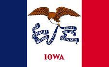 USA Flagge Fahne Iowa 90x150 cm, US State Flag, Garten Sturmflagge, Saloon Deko