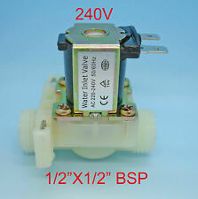 "Plastic Water Inlet Solenoid Valve 1/2""x1/2"" Bsp 240V Coil Sv10"