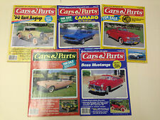 GREAT Lot of 5 1986 Cars & Parts Magazines