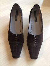 Peter Kaiser Brown Suede Heels Shoe Size Uk 4 Us 6