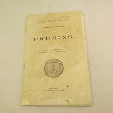 US Department of Agriculture, Farmers' Bulletin No. 181 Pruning - 1916