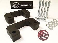 "SR CHEVY GMC CADILLAC 07-18 FRONT 2.5"" LOWER STRUT SPACERS LIFT LEVELING KIT BLK"