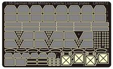 Alliance Model Works 1:35 WWII German Vehicle License plate set #LW35072