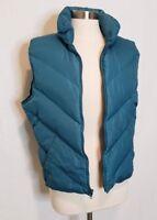 Eddie Bauer Womens Puffer Vest Premium Goose Down Size Large Jacket