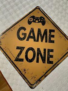 New Sealed Game Zone Metal Sign 12 inches