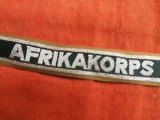 ORIGINAL  WW2 GERMAN ARMY AFRIKA KORPS ARM BAND BADGE