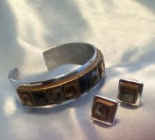 with matching earrings Artisan Mixed Metals cuff