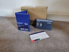 10x Sony DVCAM 184 Minutes PDV-184N Tapes Boxed DV Digital Video