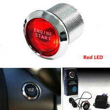 Car SUV Engine Ignition Push Start Button Red LED Light DC12V Starter Switch Kit