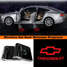 Wireless Car Door Led Projector Red Logo Laser Shadow Light For CHEVROLET Series