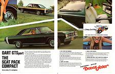 1968 DODGE DART GTS 340 / SCAT PACK ~ ORIGINAL 2-PAGE PRINT AD