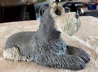Sandicast Schnauzer Dog Figurine Sculpture - Artist Signed - California, USA