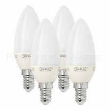 4 x IKEA RYET E14 Screw LED Candle Light Bulbs (3W/200lm/A+/2700K Warm)