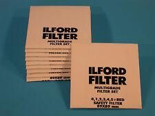 ILFORD Multigrade X10 - 89X89mm Filter Set - NEW - SEALED