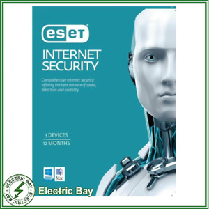 ESET Internet Security 3 Device 1 Year - Digital Key Send Within 24 Hours