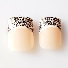 24pcs French Nails, High Quality False Nail Tips in BULK ONLY - Leopard French