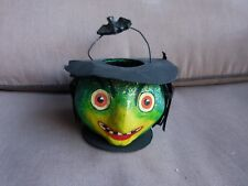 Department 56 Halloween Wicked Witch Candy Container With Wire Handle