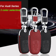 For Audi A4 A6 Q5 S5 S6 Car Smart Remote Key Fob Case Holder Leather Cover Bag