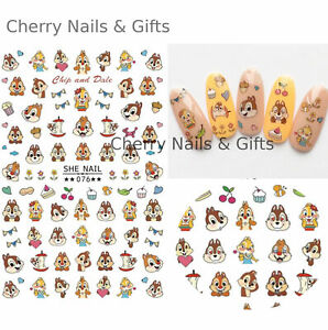 Chip and dale disney NAIL ART STICKER decal cute gift manicure diy