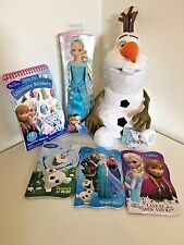 New Disney Frozen Elsa Doll, Olaf, Stickers, and 3 Books (pls see description)