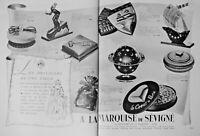 PUBLICITÉ DE PRESSE 1937 CHOCOLAT MARQUISE DE SÉVIGNÉ - VIVE PARIS - PLANETARIUM