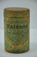 Vintage Kalzana Calcium Food Ad Litho Paper Box With Glass Bottle , Germany