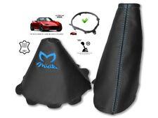 Gear & Handbrake Gaiter For Mazda MX5 Roadster ND 14-18 Blue Embroidery + Frame