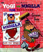 Vintage Reprint - 1964 - Yogi Vs. Magilla For President Coloring Book Sampler