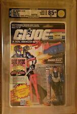 1991 Hasbro G.I. Joe Snake Eyes AFA 85+ NM+ Series 10 MOC Sealed Cobra