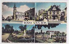 CPSM ROSNY SOUS BOIS multivues Eglise Mairie Parc Fort