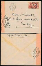 FRENCH GUINEA 1940 LABE MILITARY CENSOR OPENED...INTERNAL 1F SINGLE FRANKING