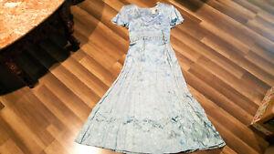 VTG Fredericks of Hollywood women's floral light blue size 9/10 dress NWOT.