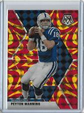 New listing 2020 Mosaic Football Peyton Manning Indianapolis Colts Reactive Orange Parallel