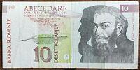 Billet de Banque SLOVÉNIE 10 Tolar Tolarjev issu de la circulation SLOVENIJE