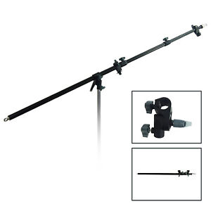 Boom Lighting Stand Slope Bar with Adapter Grip for Reflector, Flash Light