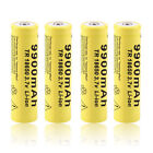 4pcs 3.7V 18650 9900mah Li-ion Rechargeable Battery For LED Flashlight Torch GA#