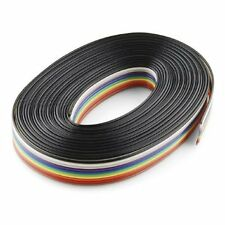 5 mtr x 10-core Rainbow Wire Ribbon Flat Cable Wire Strip for Circuits, PCB