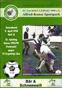 OL 93/94 FC Sachsen Leipzig - FC Ergebirge Aue, 09.04.1994 - Frank Rederer