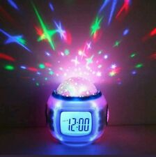Babies Bedroom Cot Nightlight Led Star Sky Projector Musical Lullaby Alarm Clock