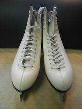 Riedell Figure Skates Ice Skates White Leather Us Women's 11 Sheffield Blades