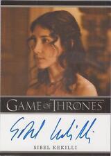 "Game of Thrones Season 2 - Sibel Kekilli ""Shae"" Autograph Card"