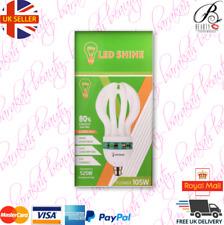 Cool daylight Energy Saver Light bulb Lamp Flower Shape 105Watt 6500K CFL B22