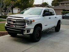FOR 07-18 TOYOTA TUNDRA CREW MAX TEXTURE BLK Nerf Bars Side Steps Running Boards