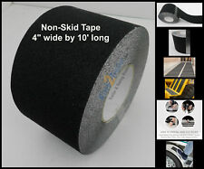 "4"" x 10' Non Skid Tape Black Roll Safety Anti Slip Sticker Grip Safe Grit"