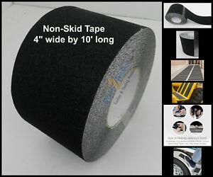 """4"""" x 10' Non Skid Tape Black Roll Safety Anti Slip Sticker Grip Safe Grit"""