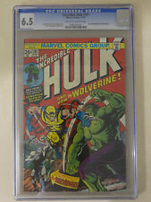 Incredible Hulk 181 CGC 6.5 comic book 1st WOLVERINE 1974